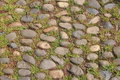 Pebbles stone road in chinese garden Stock Photos