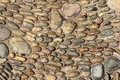 Pebbles and stones set in concrete Royalty Free Stock Photo