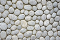 Pebbles wall detailed of background Royalty Free Stock Photos