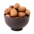 Pecan in the bowl Stock Photography