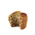 Pecan nut muffin isolated Royalty Free Stock Photo