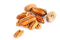 Pecan nuts on white background Royalty Free Stock Photo