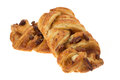 Pecan plait pastry two pastries studio shot with a white background Stock Photos