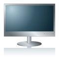 Peceta monitor computer pokaz odizolowywający na bielu Zdjęcia Stock