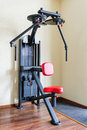 Peck back gym workout machine Royalty Free Stock Image