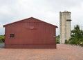 Peck Farm Barn and Silo Royalty Free Stock Photo
