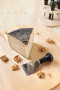 Pecorino cheese with walnuts Stock Images