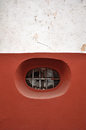 Peculiar rounded window in guanajuato mexico background texture Royalty Free Stock Photos