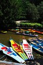 Pedal powered punts, Oxford. Royalty Free Stock Photo