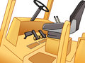 Pedals of forklift Royalty Free Stock Photo