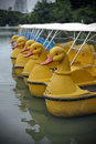 Peddle Boats on a Lake Royalty Free Stock Images