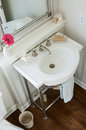 Pedestal sink Royalty Free Stock Photo