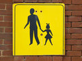 Pedestrian area sign Stock Photos