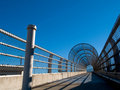 Pedestrian bridge and blue sky Stock Photography