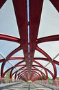 Pedestrian Bridge, Calgary Stock Images