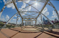 Pedestrian bridge in downtown of Nashville, Tennessee Royalty Free Stock Photo