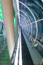 Pedestrian bridge the interior architecture and structure of Royalty Free Stock Image
