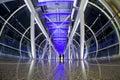 Pedestrian bridge the interior architecture and structure of Stock Photo