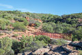 Pedestrian Bridge: Z-Bend in Kalbarri Royalty Free Stock Photo