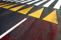 Pedestrian crossing caption asphalt street road Stock Image