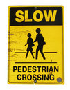 Pedestrian crossing sign Royalty Free Stock Image
