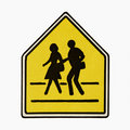 Pedestrian crossing sign. Stock Image