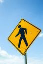 The Pedestrian crossing sign Royalty Free Stock Photo
