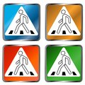 Pedestrian crossing signs Stock Photos