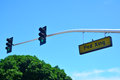 Pedestrian Crossing with Stop Light Royalty Free Stock Photo