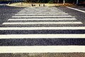 Pedestrian crossing traffic sign road sign of zebra crossing zebra stripes crosswalk or or on asphalt Stock Image
