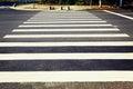 pedestrian crossing zebra crosswalk Royalty Free Stock Photo