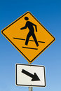 Pedestrian Crosswalk Sign Royalty Free Stock Photo