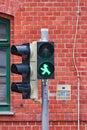 Pedestrian light shows green, so you can go Royalty Free Stock Photo