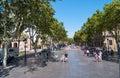 Pedestrian street in Barcelona Spain Royalty Free Stock Photo