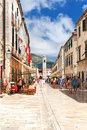 Pedestrian street dubrovnik croatia country summer Stock Images