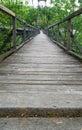 Pedestrian Suspension Footbridge Royalty Free Stock Photo