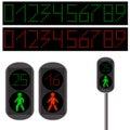 Pedestrian Traffic light. Led backlight. Royalty Free Stock Photo