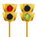 Pedestrian traffic lights Royalty Free Stock Photo