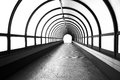 Pedestrian tunnel over a wide highway Royalty Free Stock Photo
