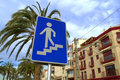 Pedestrian underpass sign Royalty Free Stock Photo