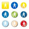 Pedestrian web button Stock Photo