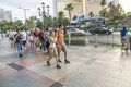 Pedestrians in downtown in las vegas nevada usa july nevada the population of about people Stock Images