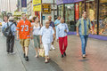 Pedestrians in downtown in las vegas nevada usa july nevada the population of about people Royalty Free Stock Photography