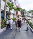 Pedestrians in downtown in las vegas nevada usa july nevada the population of about people Royalty Free Stock Photo
