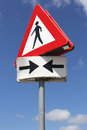 Pedestrians dutch road sign crossing Royalty Free Stock Photos