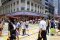 Pedestrians gone through zebra pedestrian hong kong city Royalty Free Stock Images