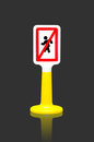 Pedestrians Prohibited traffic sign Royalty Free Stock Photo