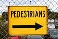 Pedestrians road sign close up Stock Image