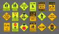 Pedestrians road signs Royalty Free Stock Photo