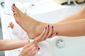 Pedicure dead skin remover feet care woman Royalty Free Stock Photo